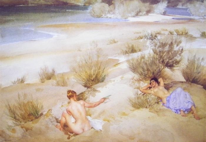 sir william russell flint Alexandrine and Josette