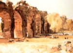 sir william russell flint  The Ancient Aquaduct print