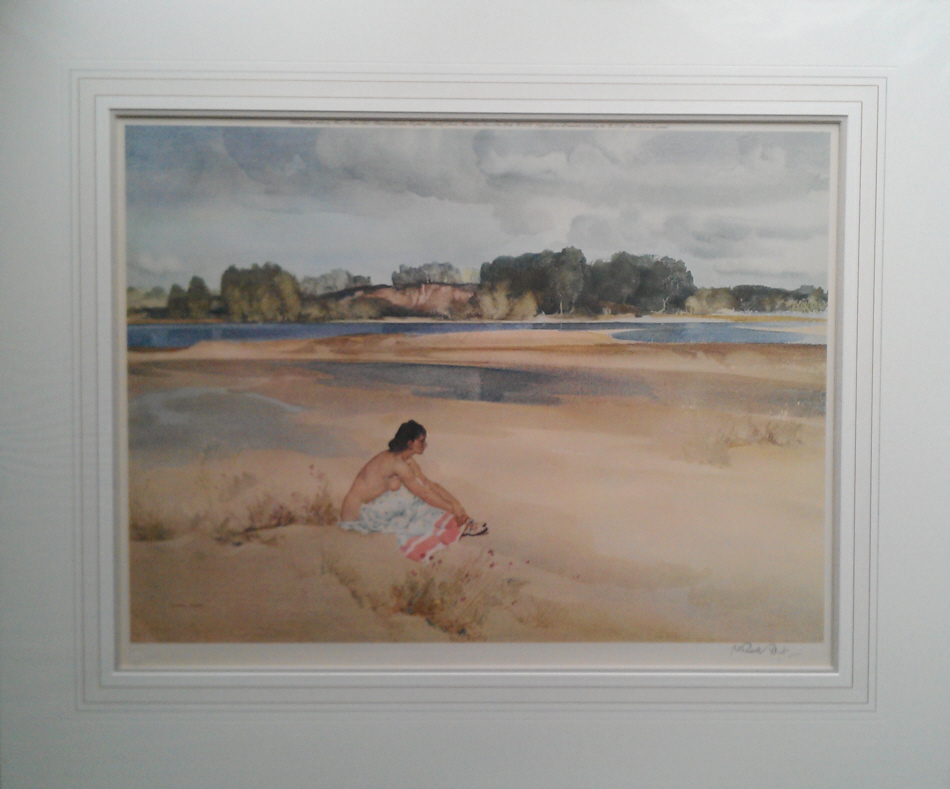 russell flint anne marie by the loire print