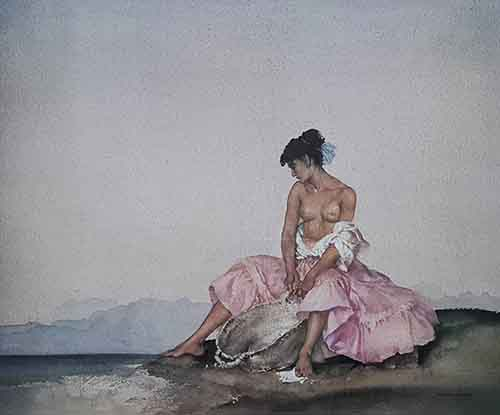 sir william russell flint Ariadne limited edition print