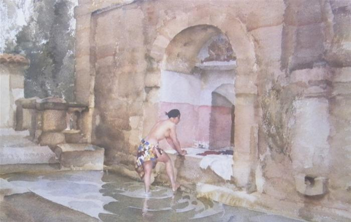 sir william russell flint The bath of Susannah