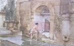 sir william russell flint The Bath of Susannah calendar print