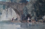 russell flint The Bridge, Nerac