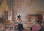 sir william russell flint in a Burgundian Granary limited edition print