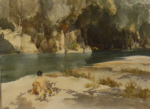 sir william russell flint the Ardeche, signed print