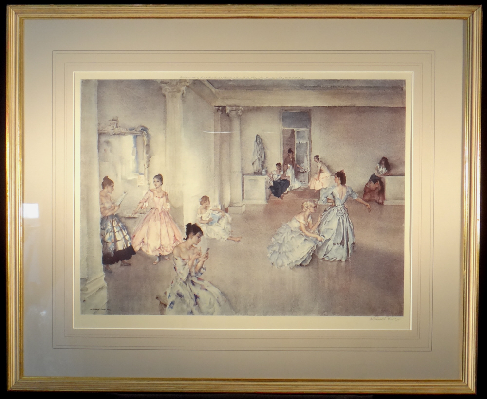 russell flint casual assembly signed print