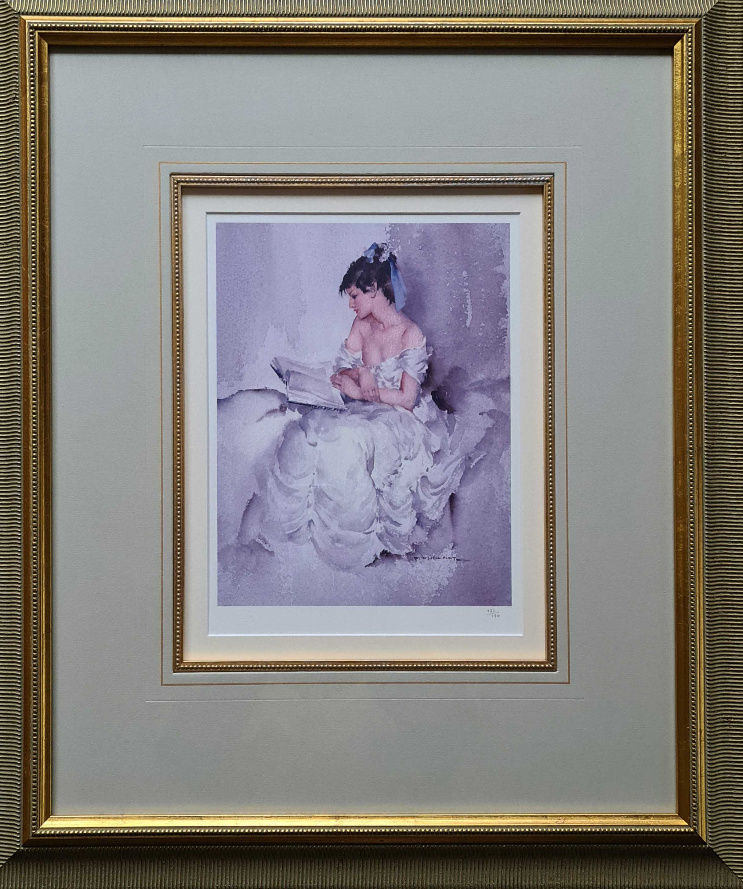 signed limited edition print, Cecilia reading more than shadows, sir william russell flint