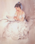 russell flint cecilia reading the book of shadows limited edition print