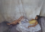 sir william russell flint Cecilia Reclining, limited edition print