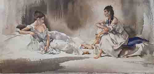 sir william russell flint, Confidential Exchanges limited edition print