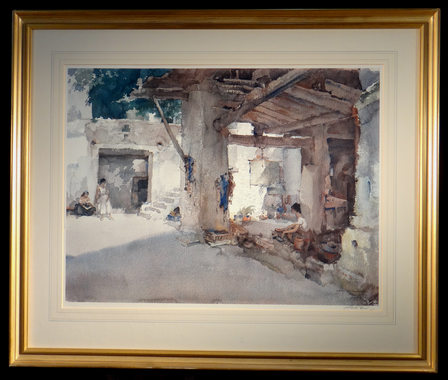 signed limited edition print, conversation st. martin d' ardeche, sir william russell flint