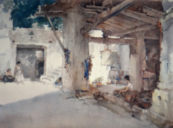 sir william russell flint, Conversation St. Martin d'Ardeche, signed limited edition print