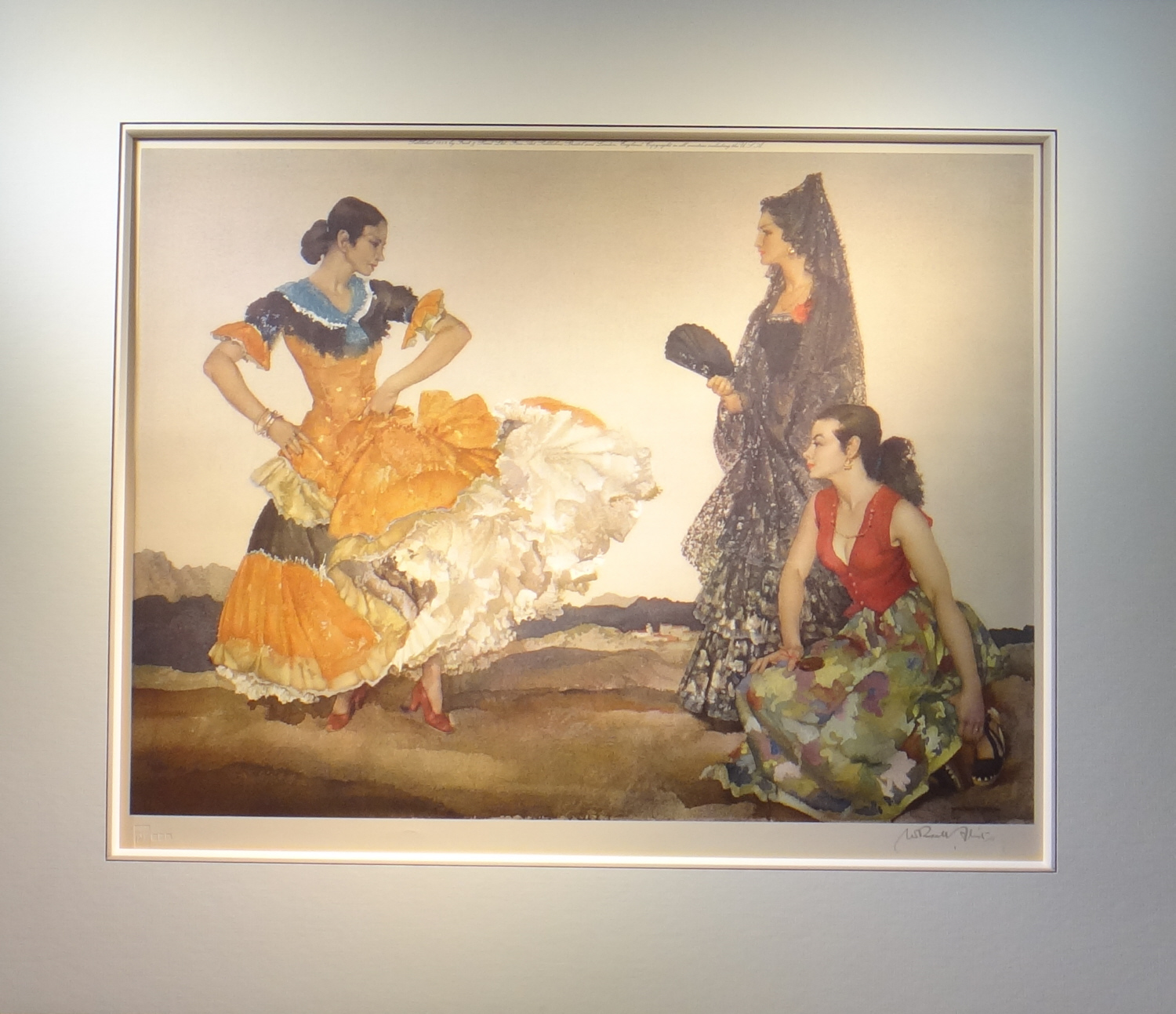 russell flint dance of a thousand flounces framed print