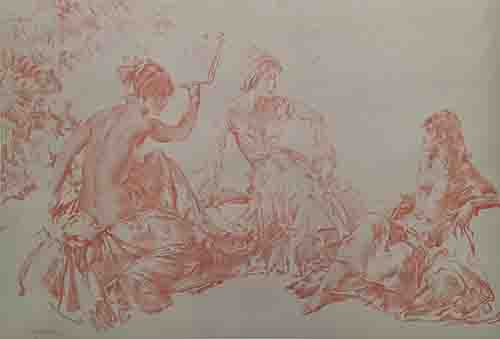 sir william russell flint, discussion, signed limited edition print