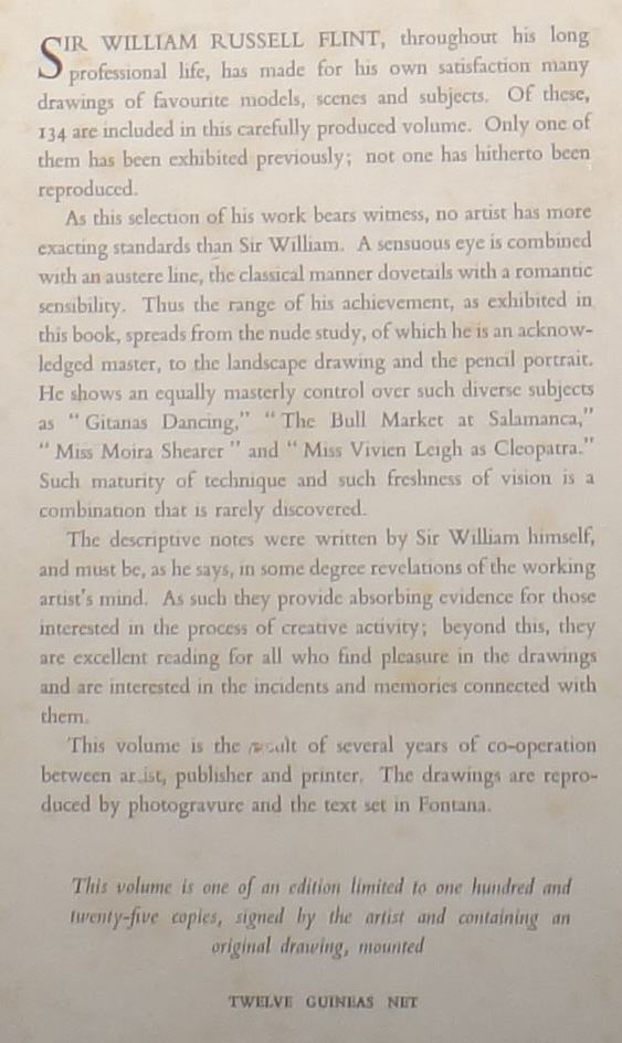drawings book rear, sir william russell flint