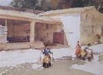 sir william russell flint The farm yard, Argilliers, Languedoc calendar print