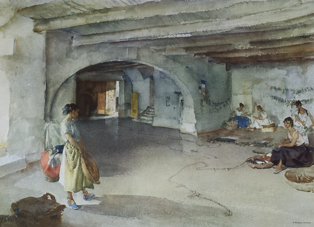 russell flint festal preparations, Manosque