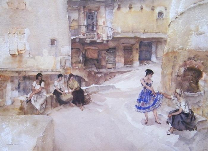 sir william russell flint The festival dress Cordes