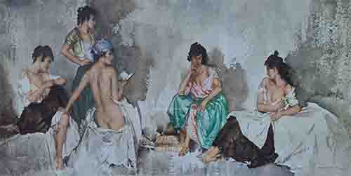 sir william russell flint Fiametta limited edition print