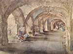 sir william russell flint, flowers in the cloister, limited edition print
