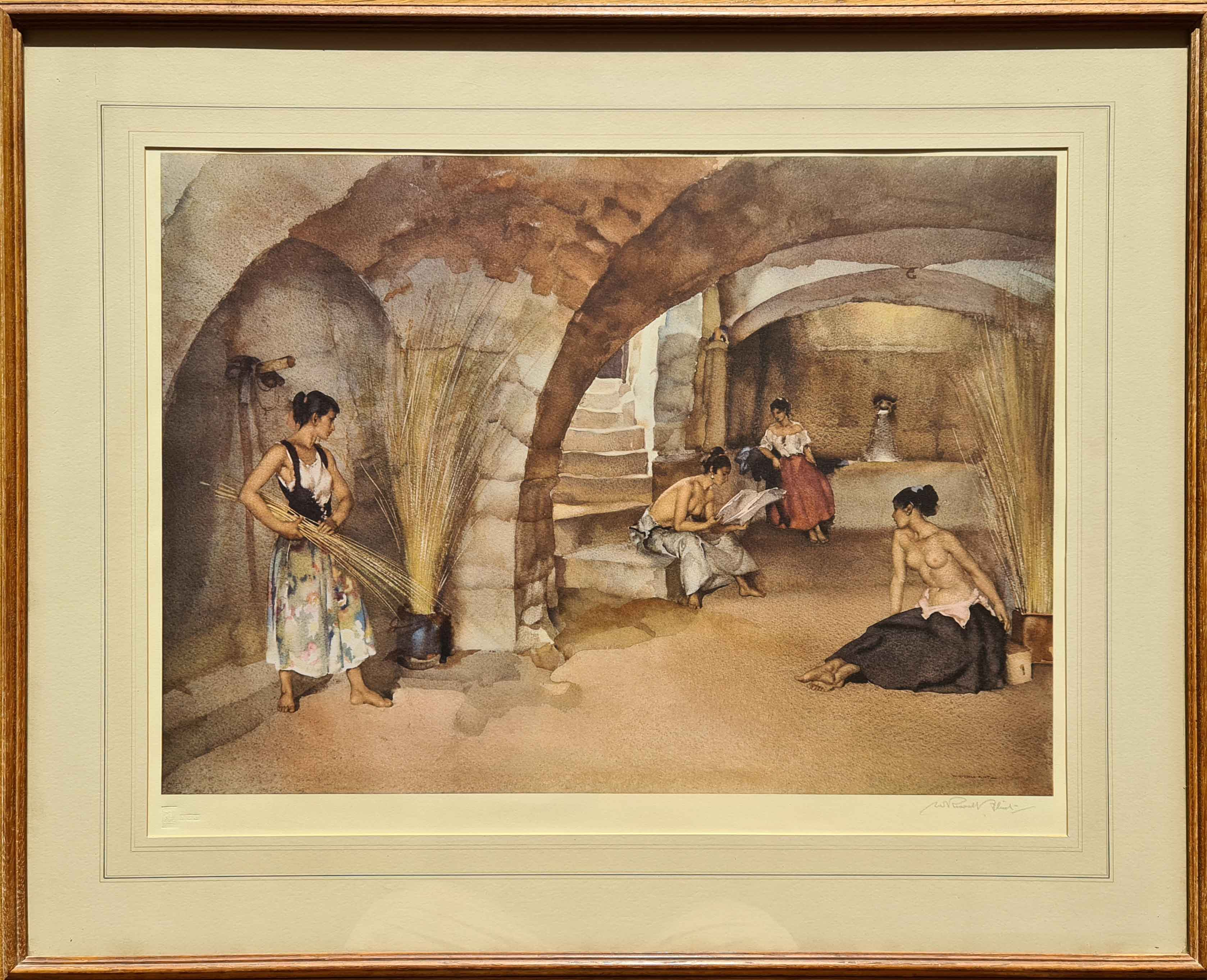 russell flint, signed limited edition, four sisters, Chazelet, print