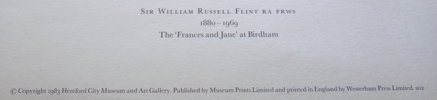 russell flint francis and jane at birdham, print title