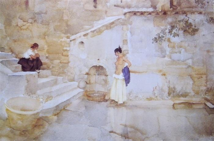 sir william russell flint The garden tap