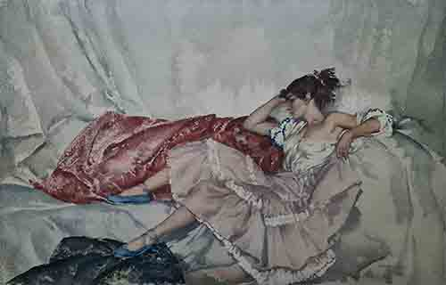 sir william russell flint, Girl from Orio, limited edition print