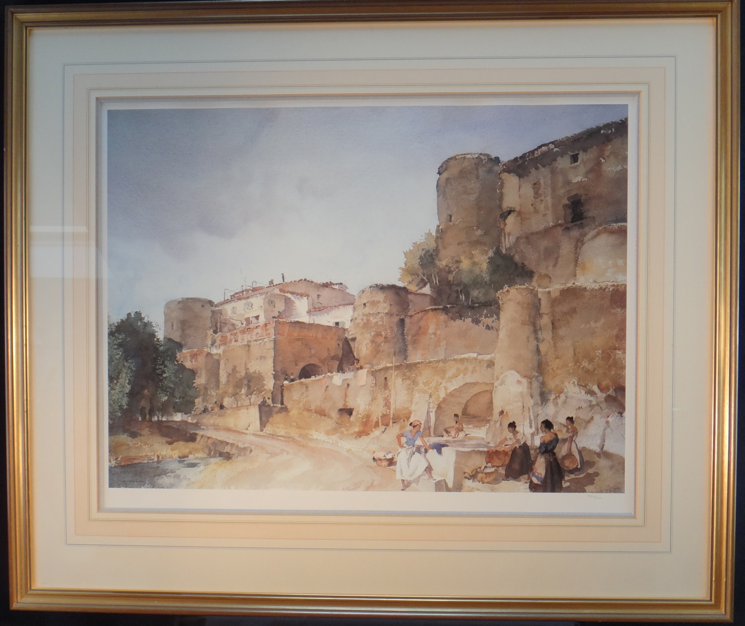 russell flint gossipers at le castellet print framed