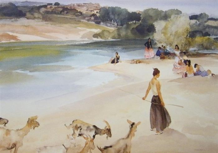 sir william russell flint Gypsies and goats