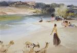 sir william russell flint Gypsies and Goats calendar print