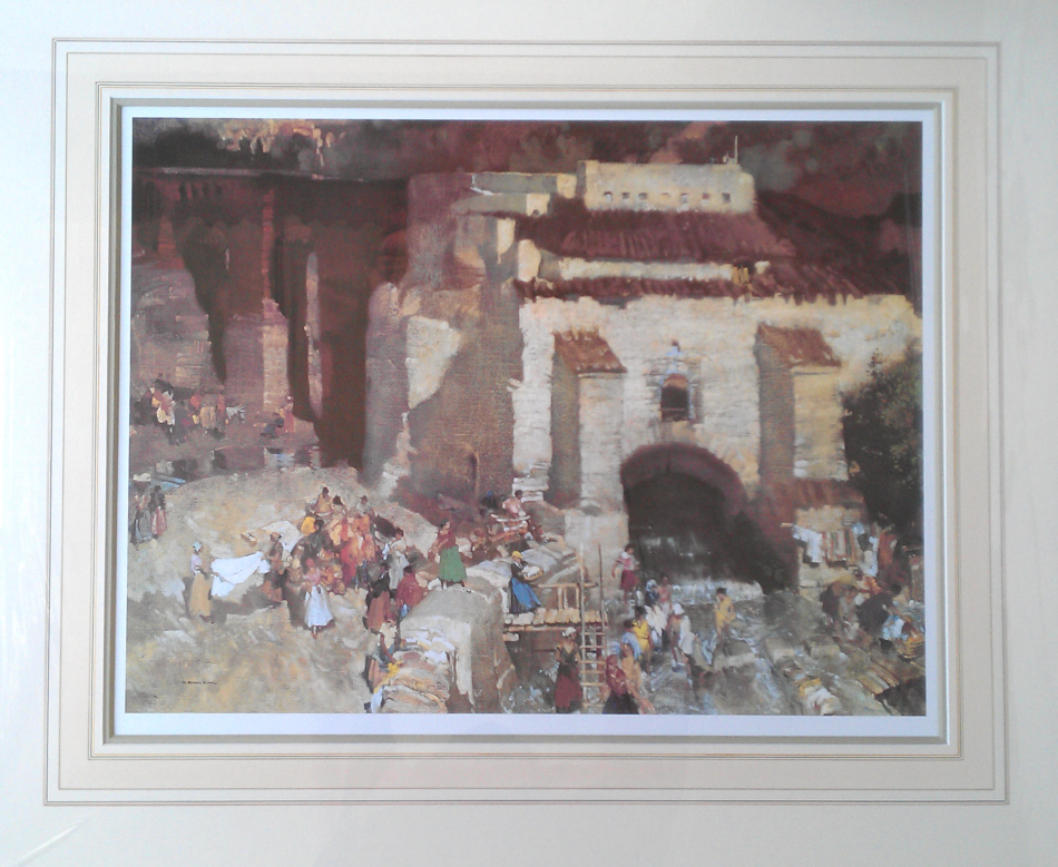russell flint gypsy festival st. andalusia print