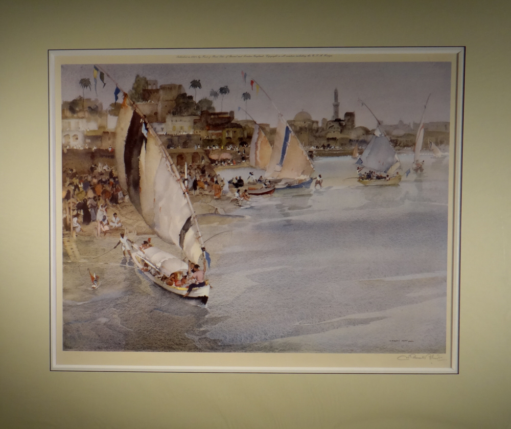 russell flint, Holiday after Ramadan, signed limited edition print