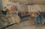 sir william russell flint in a provencal granary signed limited edition print