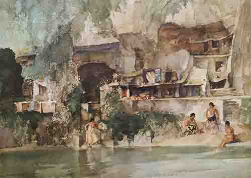 sir william russell flint, in sunny perigord, limited edition print