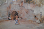 sir william russell flint models in an italian courtyard limited edition print