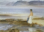 sir william russell flint Jemima in Anglesey calendar print