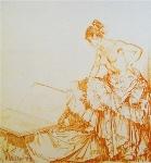 sir william russell flint Josefina calendar print