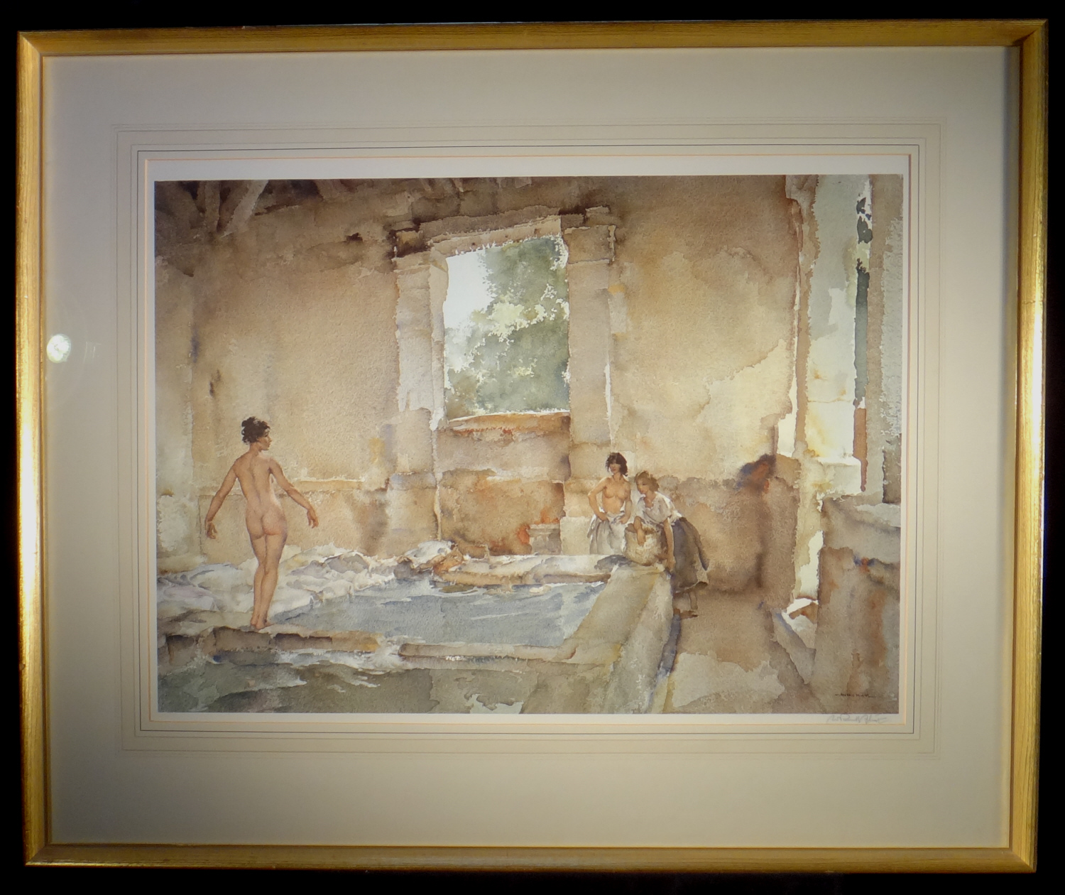 signed limited edition print, Lavoir la Bastide, sir william russell flint