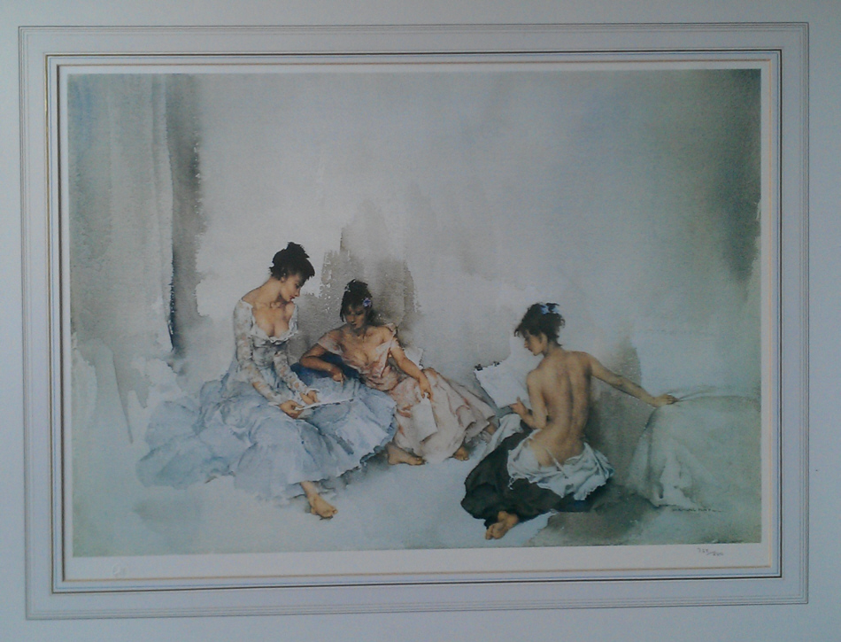 russell flint act II scene I, limited edition, print