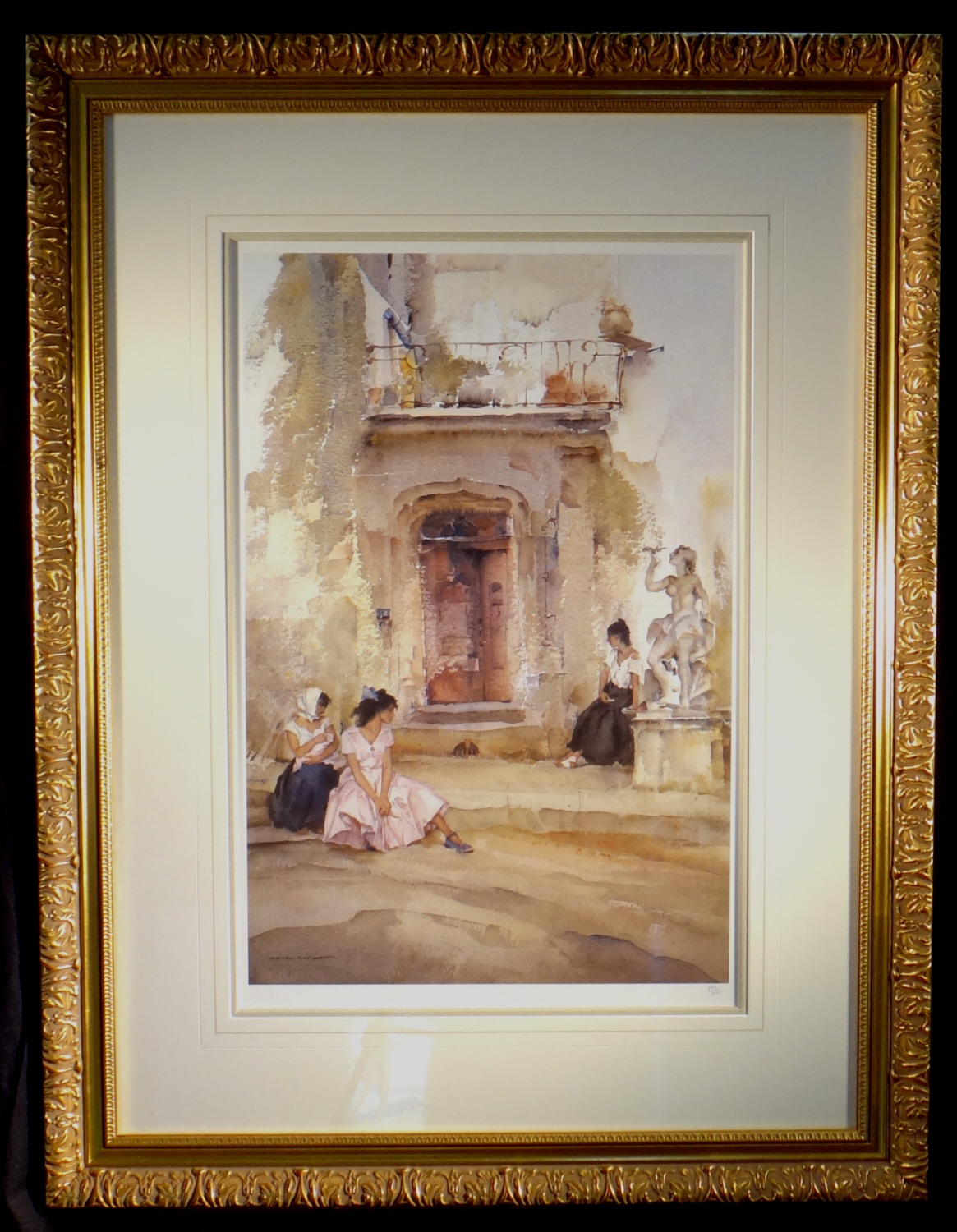 signed limited edition print, ancient doorway, Cordes, sir william russell flint