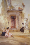 sir william russell flint, Ancient doorway Cordes, limited edition print
