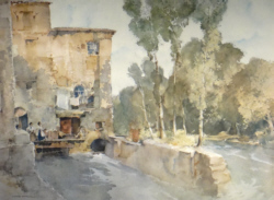 sir william russell flint Mill Barbaste limited edition print