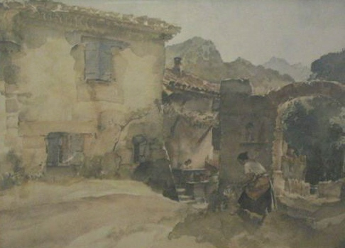 sir william russell flint Little terrace Vannavez