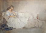 sir william russell flint the looking glasslimited edition print