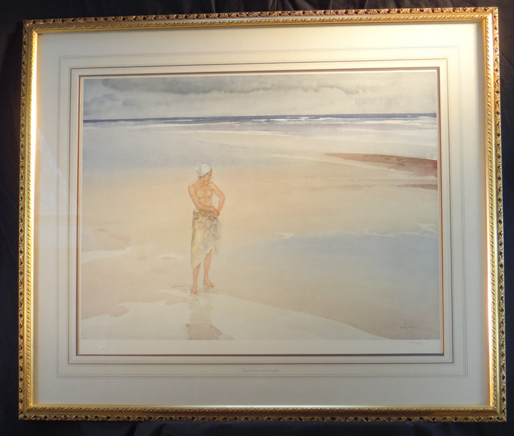 russell flint lydia on the sands print framed