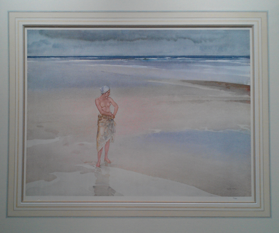 russell flint lydia on the sands print