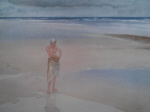 russell flint, lydia on the sands