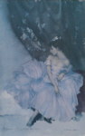 sir william russell flint, Mauve Frock, limited edition print
