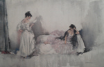 sir william russell flint, memorizing Act II, limited edition print